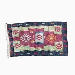 Kleine Vintage Kelim Teppich Matte, 1970er