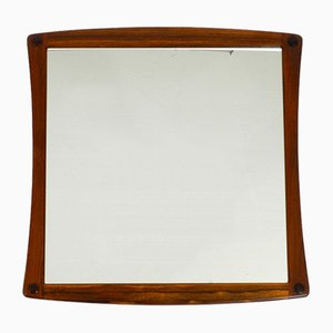 Teak Wall Mirror from Aksel Kjersgaard, 1960s