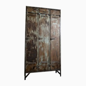 French Metal Locker from Strafor, 1920s