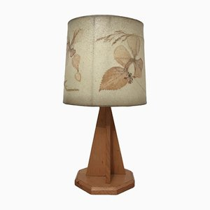 Wooden Table Lamp, 1960s