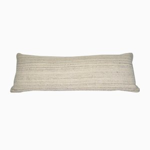 Handmade White Hemp Kilim Pillow Cover from Vintage Pillow Store Contemporary