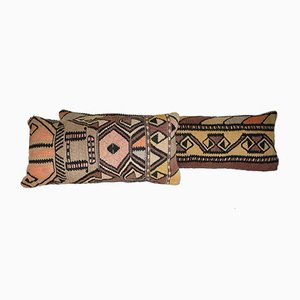 Turkish Bedding and Lumbar Kilim Pillow Cover from Vintage Pillow Store Contemporary, Set of 2