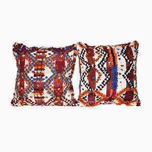 Türkischer Shaggy Kissenbezug von Vintage Pillow Store Contemporary, 2er Set
