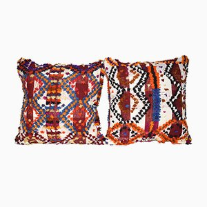 Turkish Shaggy Pillow Cover from Vintage Pillow Store Contemporary, Set of 2