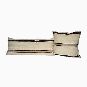 Türkischer Vintage Hanf Kelim Kissenbezüge von Vintage Pillow Store Contemporary, 2er Set