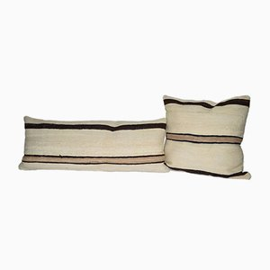 Vintage Turkish Hemp Kilim Pillow Covers from Vintage Pillow Store Contemporary, Set of 2
