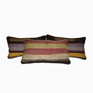 Gestreifte Türkische Kilim Kissenbezüge von Vintage Pillow Store Contemporary, 3er Set