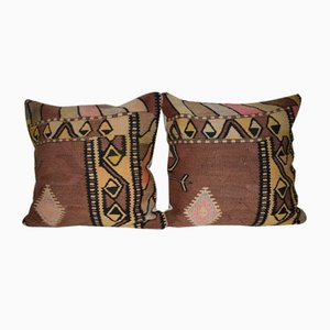 Turkish Kilim Pillow Cover from Vintage Pillow Store Contemporary, Set of 2