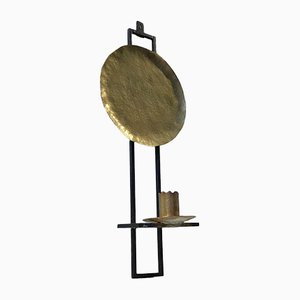 Scandinavian Candleholder in Brass and Wrought Iron, 1950s