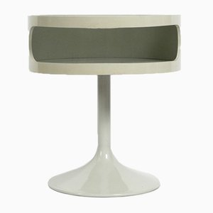 Space Age Pop Art Side Table with Smoked Glass Top from Opal Möbel, 1970s