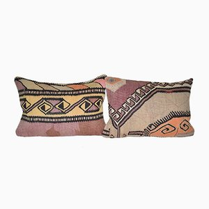 Geometrical Turkish Kilim Pillow Covers from Vintage Pillow Store Contemporary, Set of 2