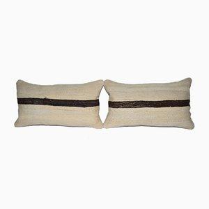 Türkische Bio Hanf Kelim Kissenbezüge von Vintage Pillow Store Contemporary, 2er Set