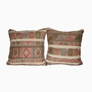 Turkish Square Pillow Covers from Vintage Pillow Store Contemporary, Set of 2