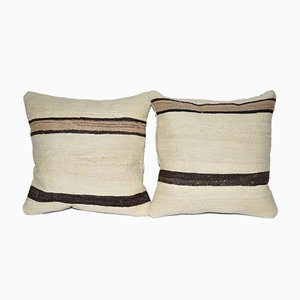 Turkish Hemp Kilim Wool Cushion Covers from Vintage Pillow Store Contemporary, Set of 2