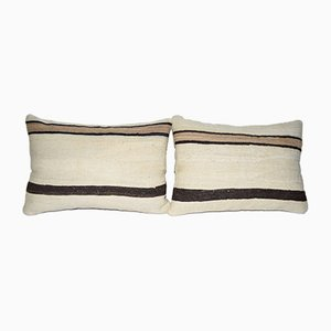 Vintage Minimalist Style Hemp Pillow Covers from Vintage Pillow Store Contemporary, Set of 2