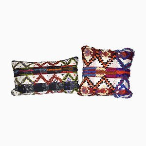 Turkish Shaggy Pillow Covers from Vintage Pillow Store Contemporary, Set of 2