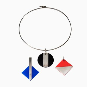 Necklace with 3 Pendants by Sigurd Persson, Sweden, 1990s
