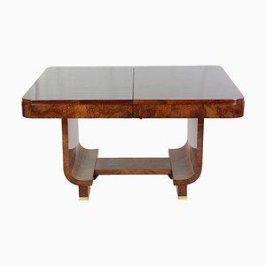 Ausziehbarer Art Deco Tisch aus Nussholz