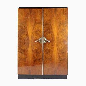 Art Deco Schrank aus Nussholz