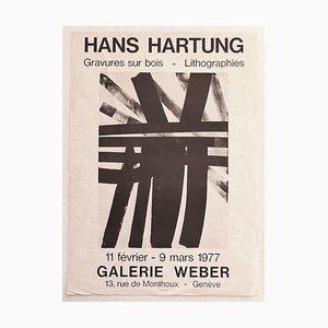 Hans Hartung - Hans Hartung- Ausstellungsplakat - Original Offsetdruck - 1977