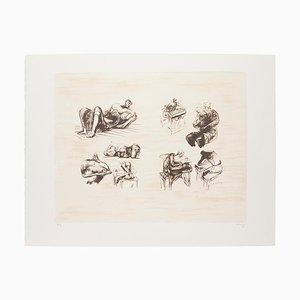 Henry Moore - Acht skulpturale Ideen - Original Lithographie - 1973