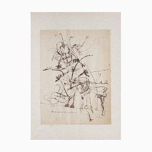 Sergio Barletta - Devil Spirits - Original Tinte auf Papier - 1962