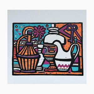 Luigi Spacal - Still Life - Original Woodcut Print - 1970s