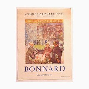 Pierre Bonnard - Bonnard- Ausstellungsplakat - Original Offsetdruck - 1955