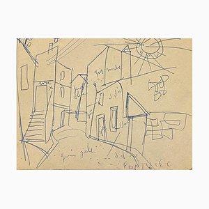Unknown - Road - Original Federzeichnung auf Papier - Frühes 20. Jahrhundert