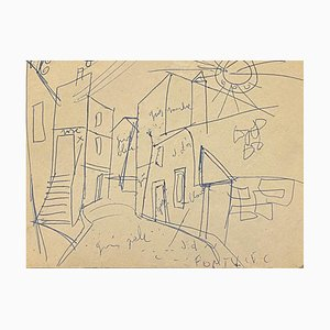 Unknown - Road - Original Pen Drawing on Paper - Early 20th Century