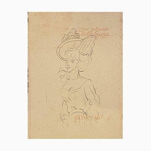Unknown - Dame der Belle Epoque - Original Lithografie auf Papier - 1880