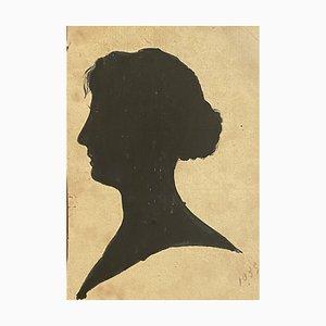 Unknown - Damenfigur - Original China Tinte auf Papier - 1895