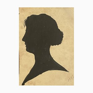 Unknown - Figure of Woman - Original China Ink on Paper - 1895