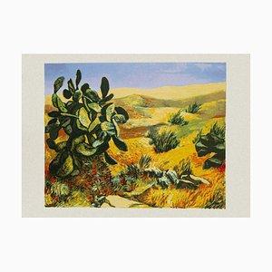 Renato Guttuso - Landscape - Original Siebdruck - 1980er