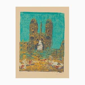 Carlo Mazzoni - Trinita Dei Monti - Original Screen Print - Late 20th Century