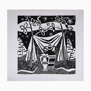 Luigi Spacal - Childwood Memory - Original Woodcut Print - 1940