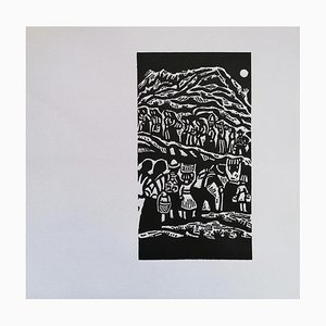 Luigi Spacal - Supplies To the Partisans - Original Woodcut Print - 1944