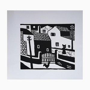 Luigi Spacal - Karst Morgen - Original Holzschnittdruck - 1940