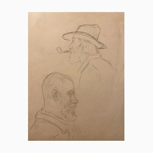 Unknown - Portrait - Original Pencil Drawing - Early 20th Century