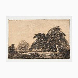 Israel Henriet - Landscape - Original Etching - Late-17th Century