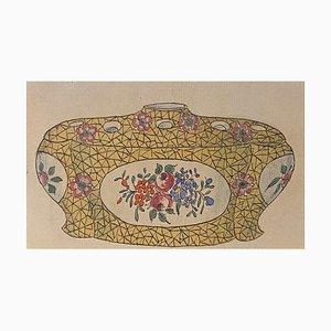 Unknown - Porzellan Box - Original China Tinte and Watercolor - 1890er