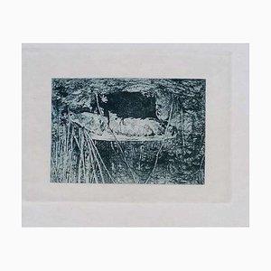 Luca Beltrami - Fontainebleau Forest - Original Radierung - 1877