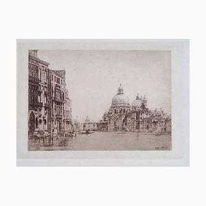 Luca Beltrami - Venice, Grand Canal - Original Etching - 1877