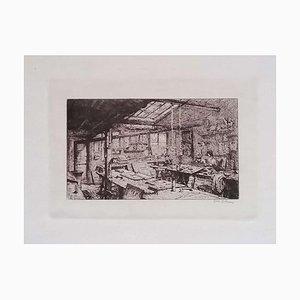 Luca Beltrami - Paris, L'atelier Pascal - Original Radierung auf Karton - 1877