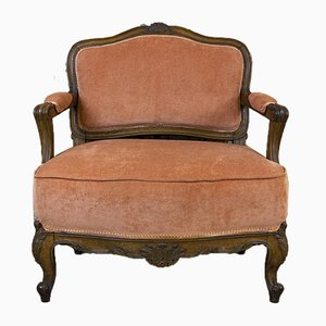 Neoclassical Walnut Armchair, 1920s