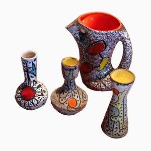 Mid-Century Keramiken von Vallauris, 4er Set