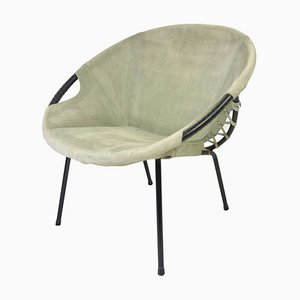 Mid-Century Suede Lounge Chair from Lusch Erzeugnis, 1960s