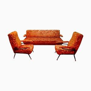 Wohnzimmer Set mit Sofa & Stühlen, 1960er, 3er Set