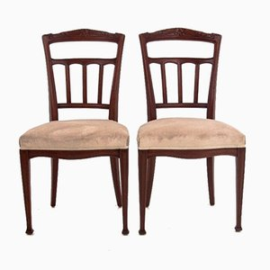 Beech Dining Chairs, 1950s, Set of 2