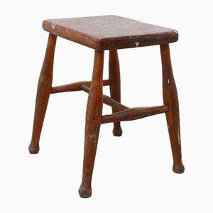 Sgabello o tavolino Mid-Century in legno